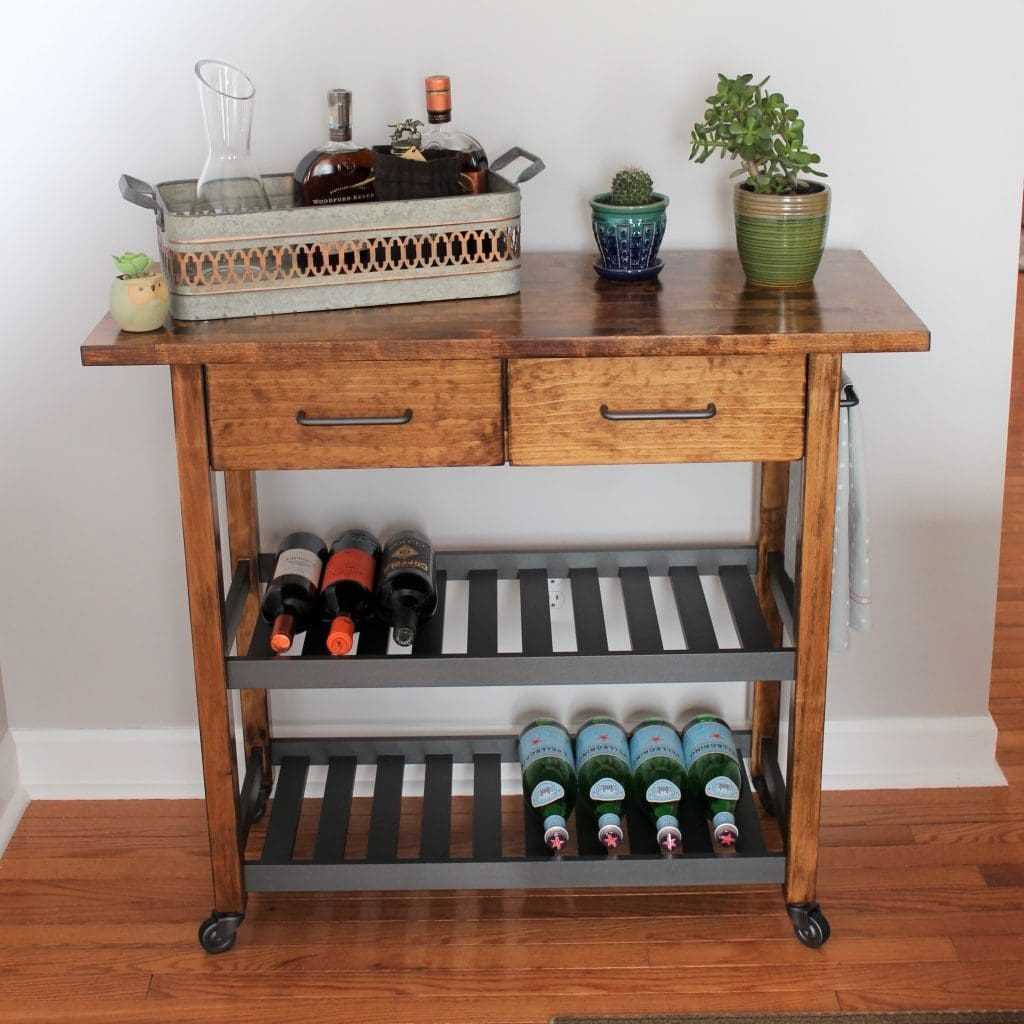 Kitchen Of The Week A Diy Ikea Country Kitchen For Two: Ikea Forhoja Kitchen Cart Hack