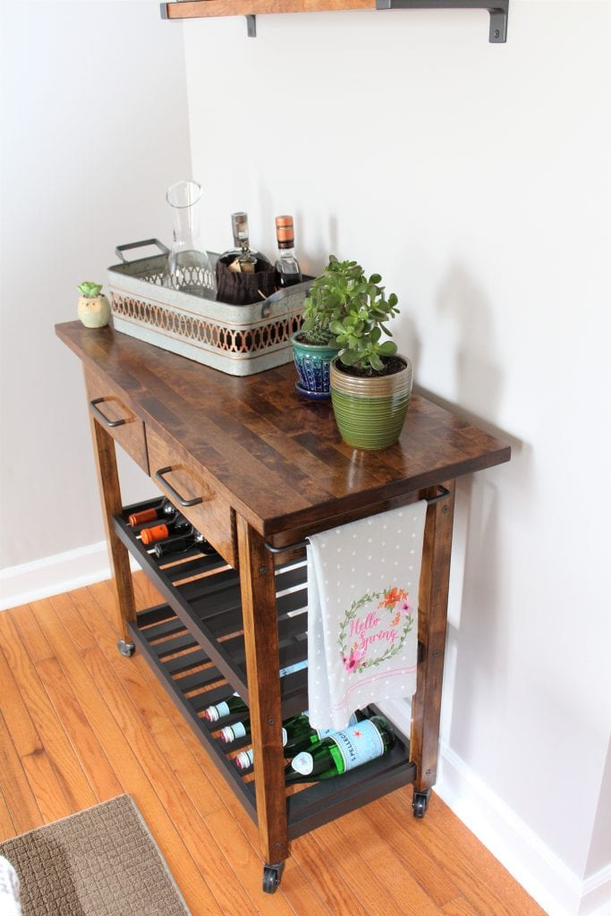 Ikea Forhoja Kitchen Cart Hack Handmade Weekly