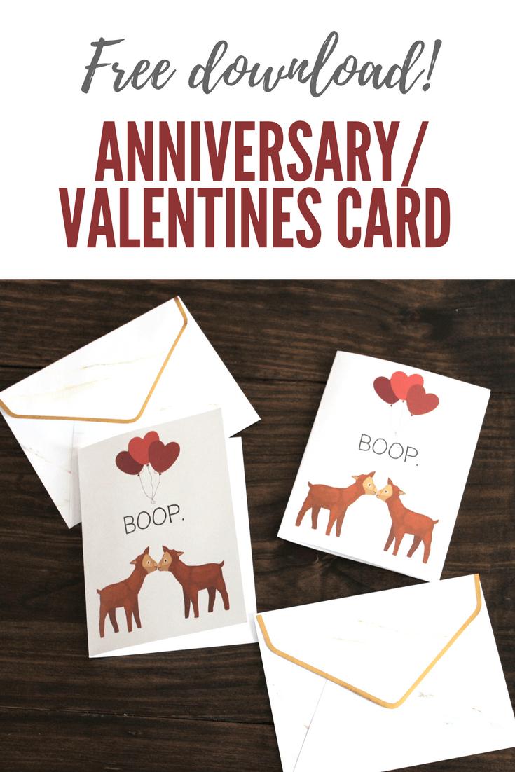 Anniversary Card Free Download Handmade Weekly