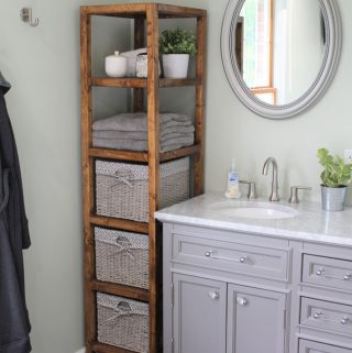 DIY Linen Tower – Free Plans