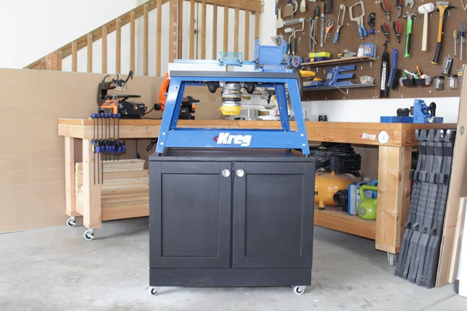 rolling benchtop tool cabinet