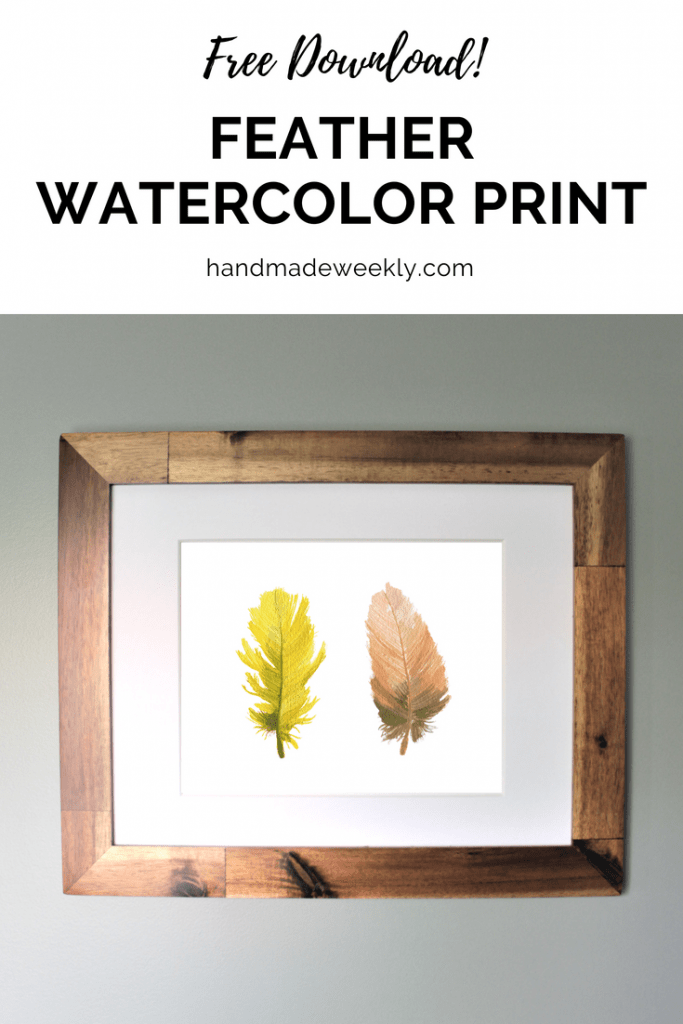 free feather watercolor print