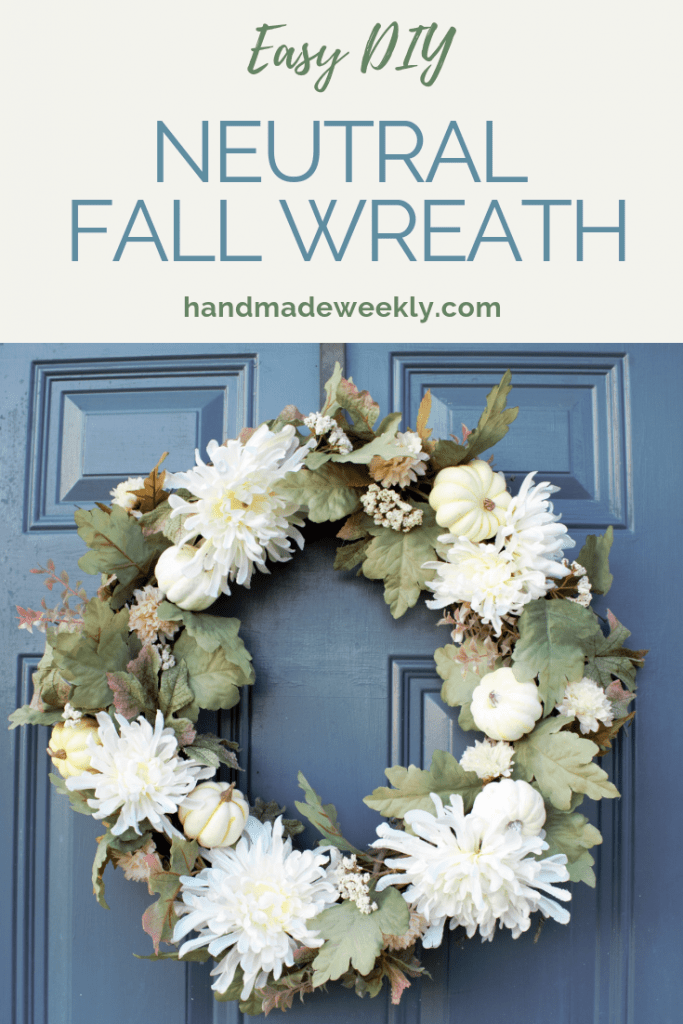 Elegant neutral fall wreath DIY