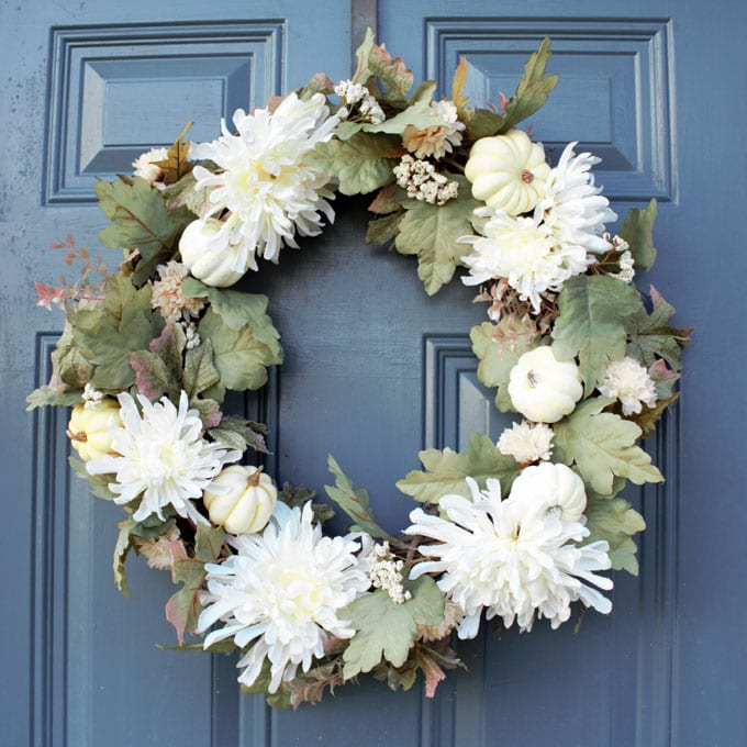 DIY Elegant Neutral Fall Wreath
