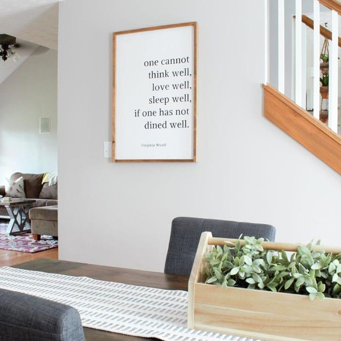 DIY Farmhouse Dining Sign