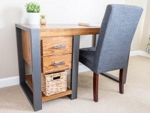 Modern industrial desk woodworking plans