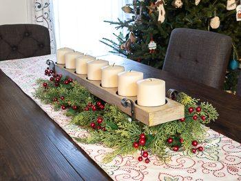 DIY Christmas table centerpiece large