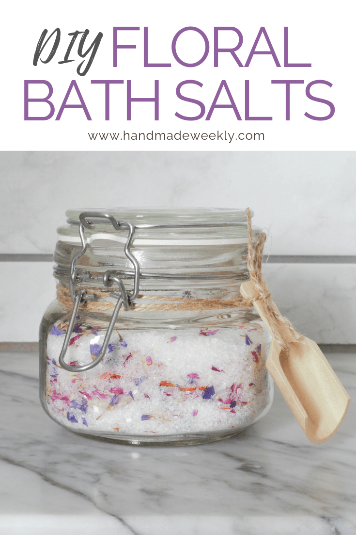 DIY Floral Bath Salt