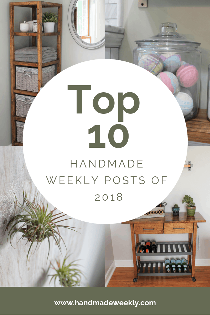Top 10 DIY, Craft, Furniture, Recipe Projects of 2018