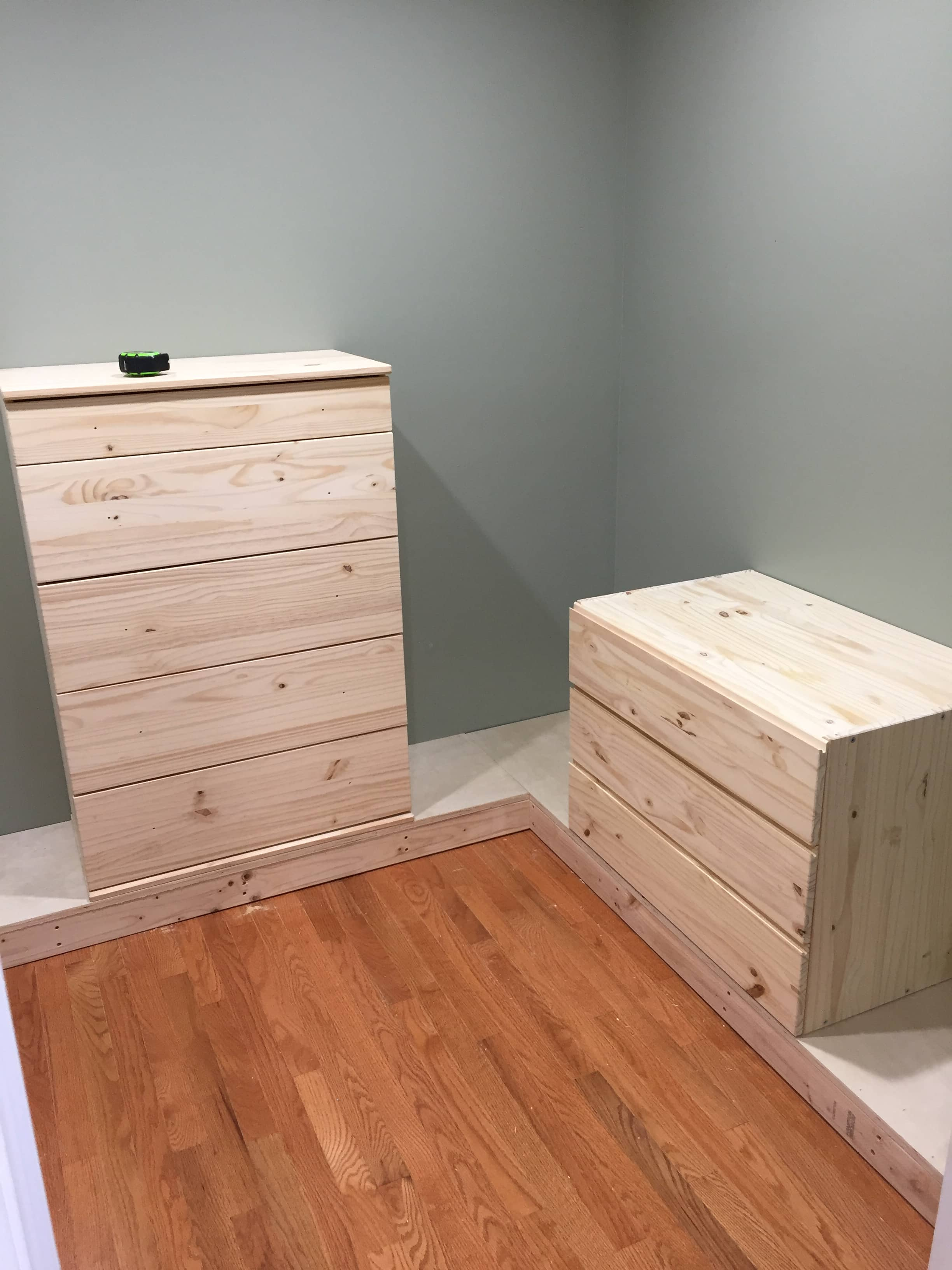 DIY Closet with ikea dresser