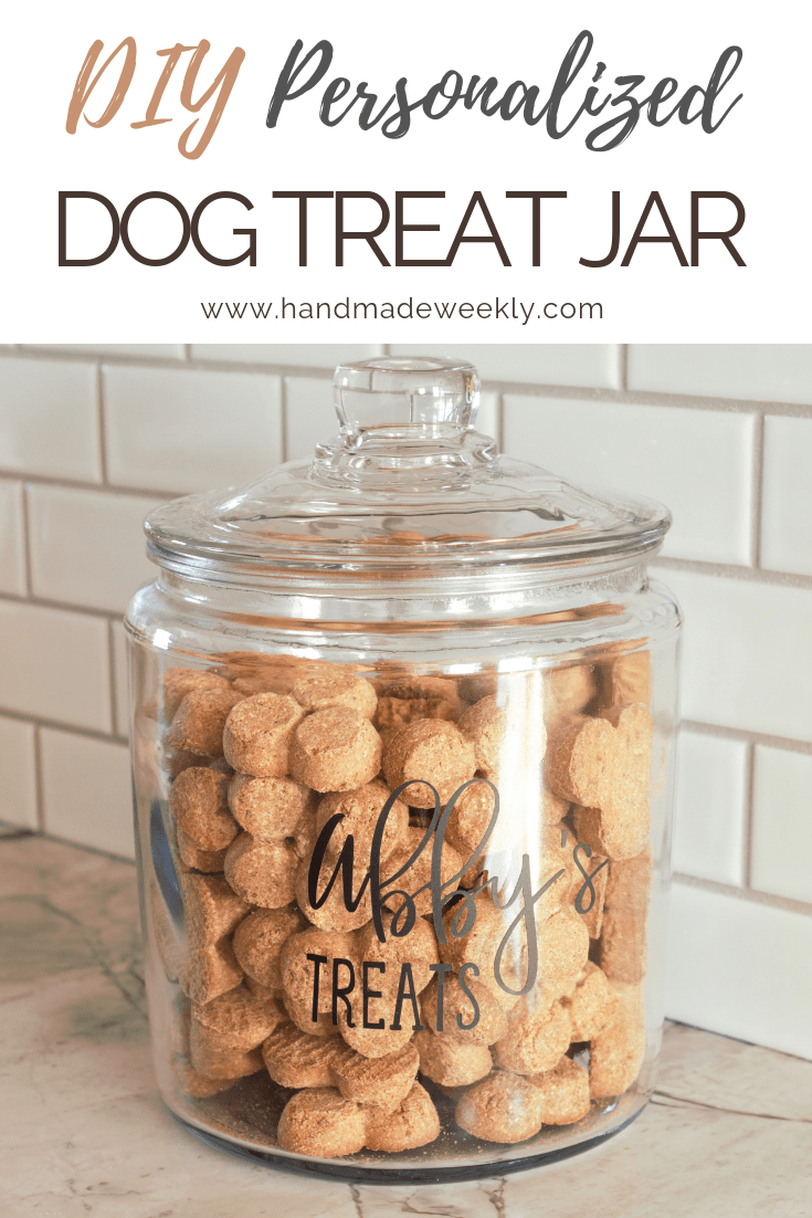 DIY Personalized Dog Treat Jar