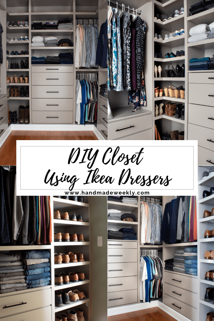 DIY Closet with Ikea Dressers