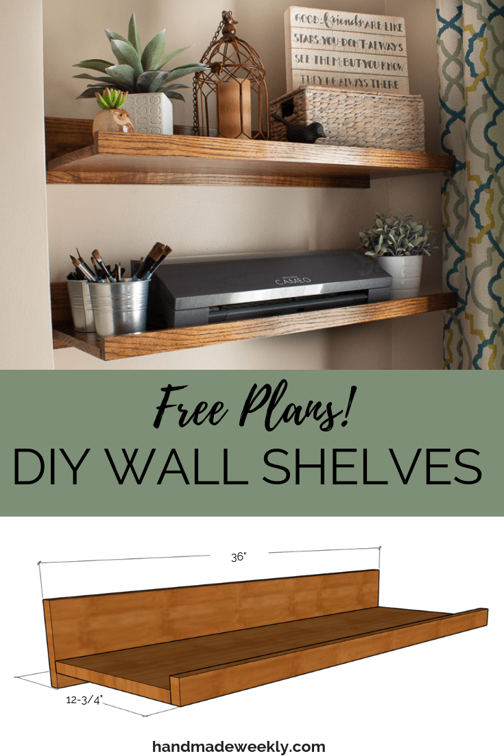 DIY Wall Shelves Free Plans
