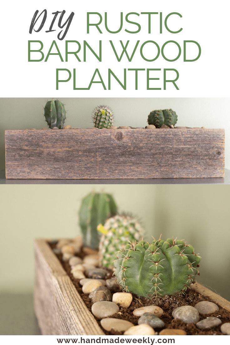 DIY Rustic Barn wood Planter