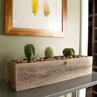 DIY Rustic barn wood planter