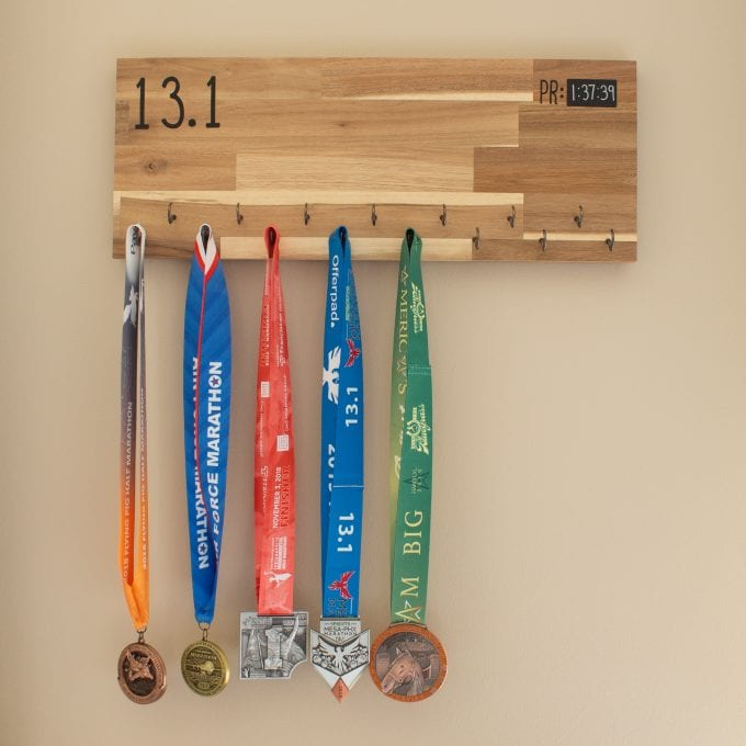 DIY Marathon Medal Display