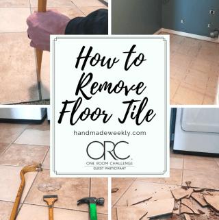 How to remove floor tile - One Room Challenge Week 2