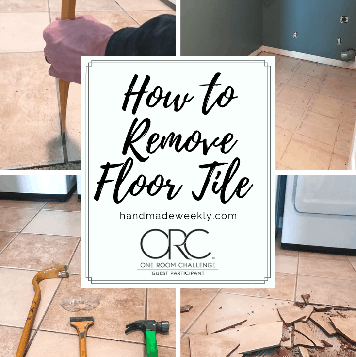 How to remove floor tile - One Room Challenge Week 2