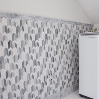 One Room Challenge Week 4 Laundry Room Mosaic Tile