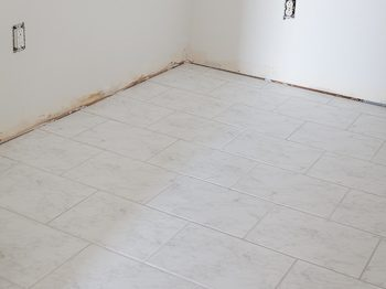 white ceramic marble look floor