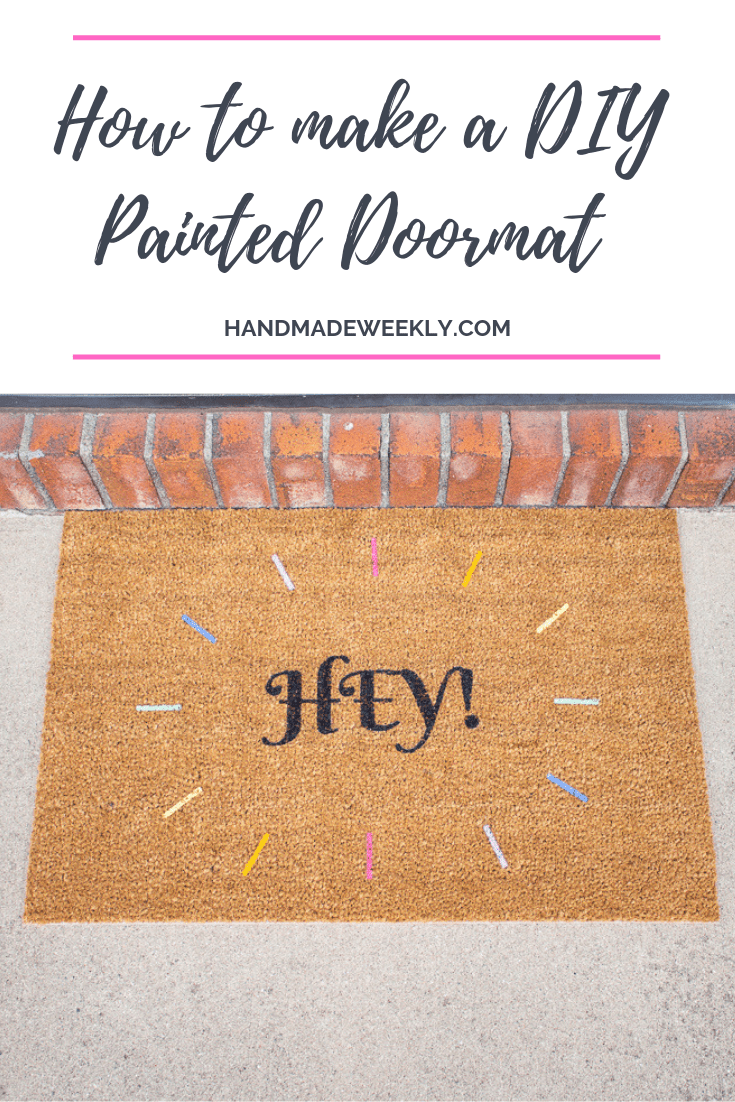 How to make a DIY painted Doormat using Ikea Trampa