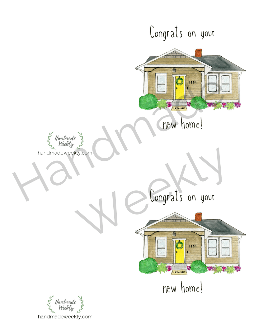 Free housewarming card printable download