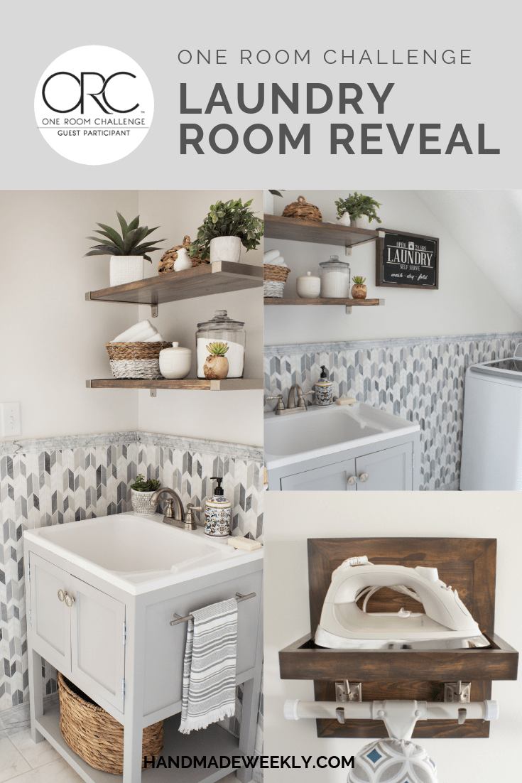 One Room Challenge Laundry Room Reveal