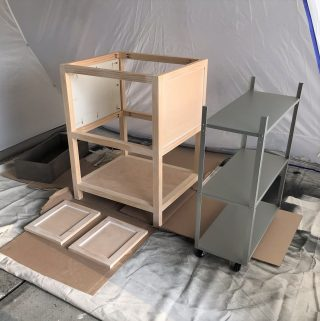 One Room Challenge Week 5 Woodworking projects for laundry room