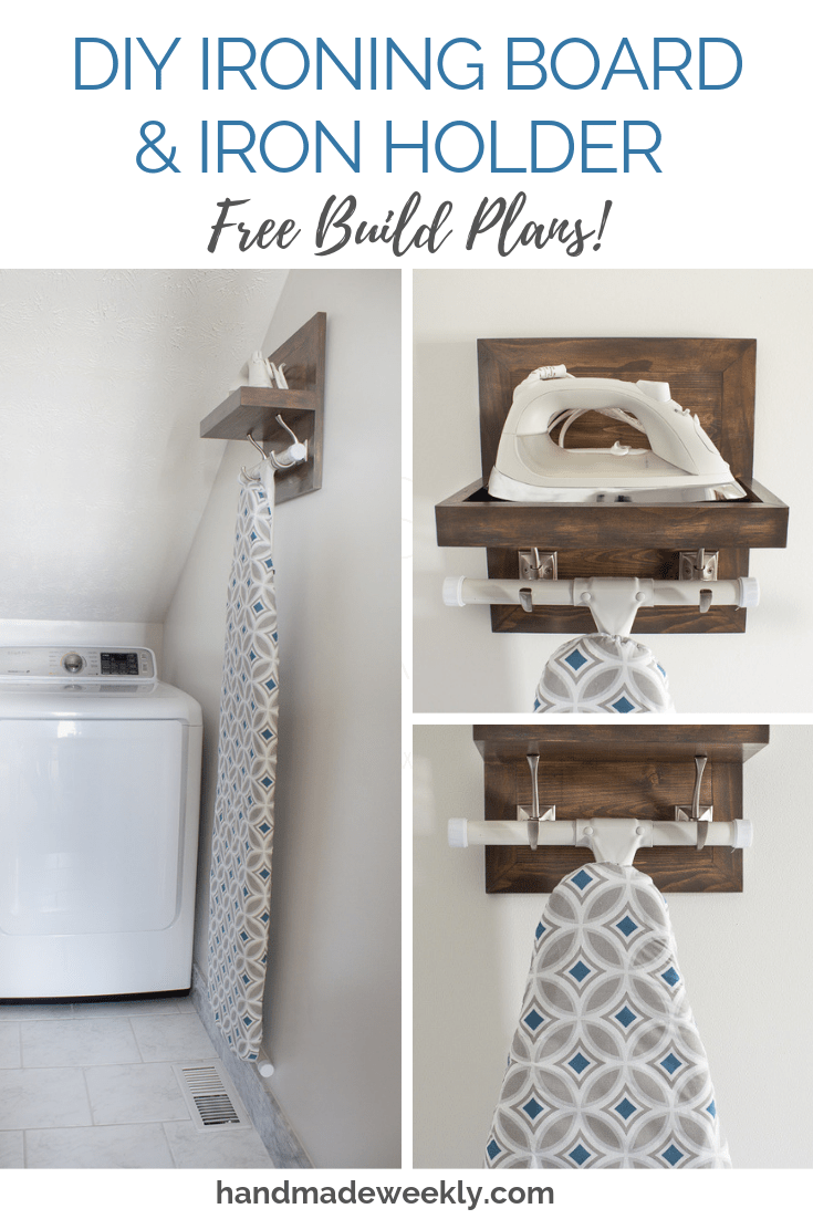 DIY Ironing board and iron holder free woodworking plans