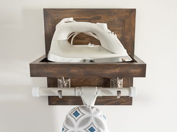 DIY Ironing board and iron holder