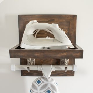 DIY Ironing Board and Iron Holder Free Plans