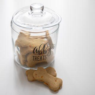 Gluten free carrot banana and peanut butter dog treats