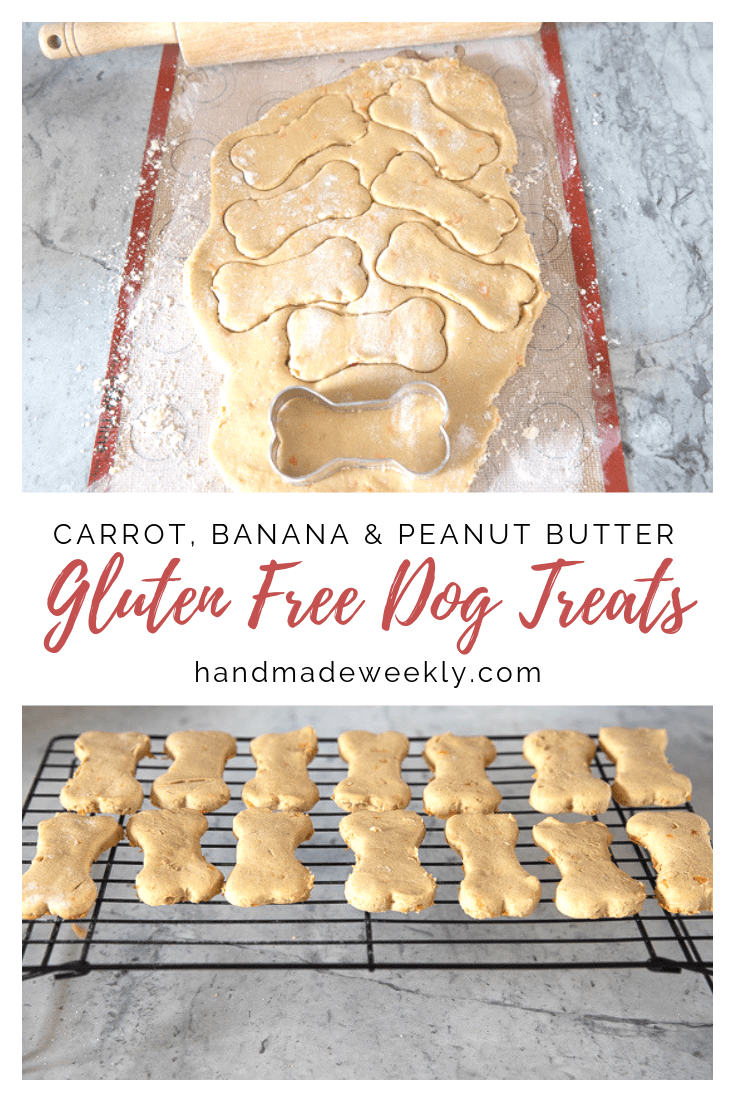 Gluten Free Dog Treats - Homemade Carrot, Banana, Peanut Butter
