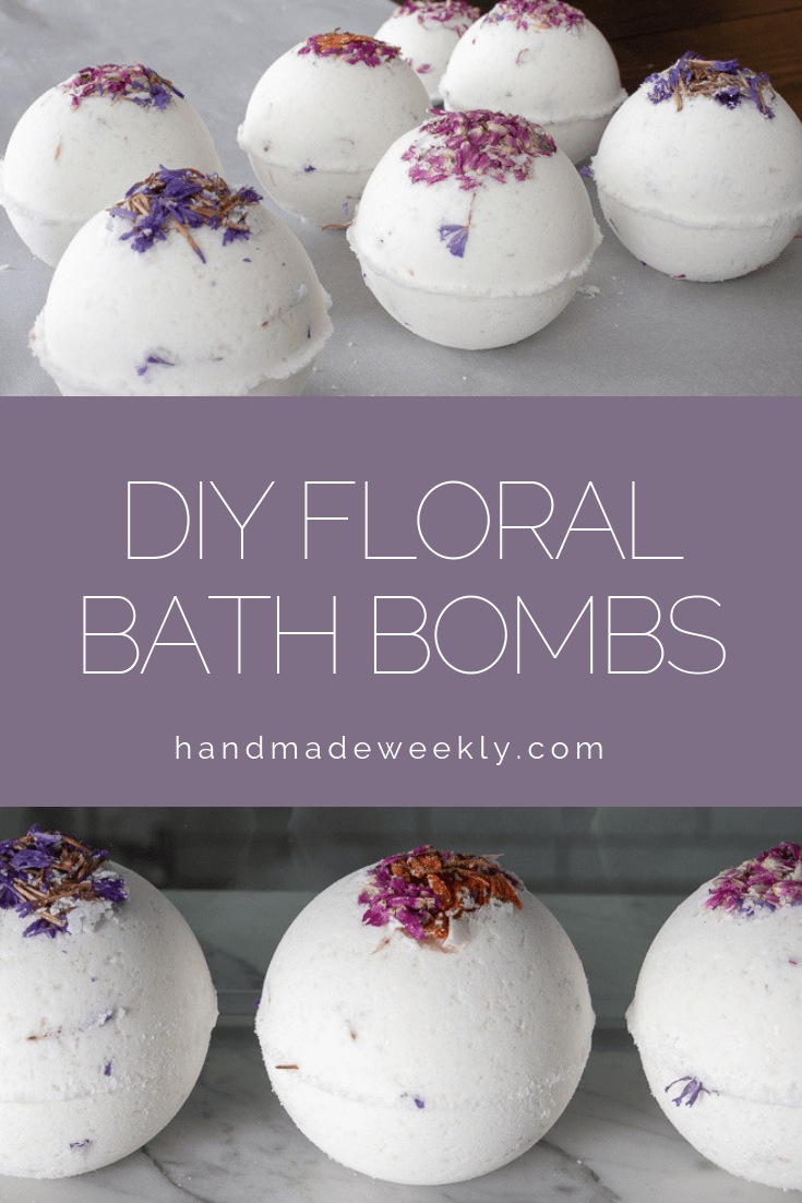 DIY Floral Bath Bomb Tutorial