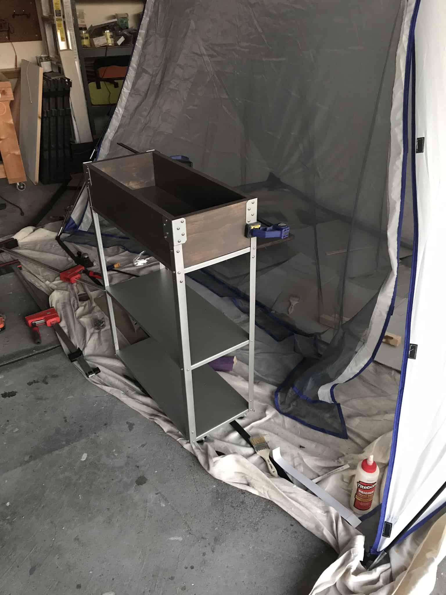 Ikea Hyllis hack rolling cart