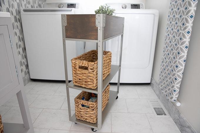 Ikea Hyllis hack rolling cart 24