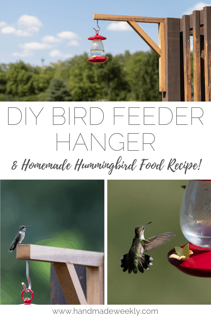 DIY Bird Feeder Holder and Homemade Hummingbird Food Recipe