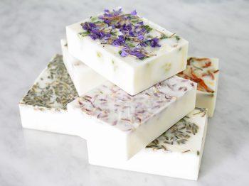 DIY Floral Soap Bars