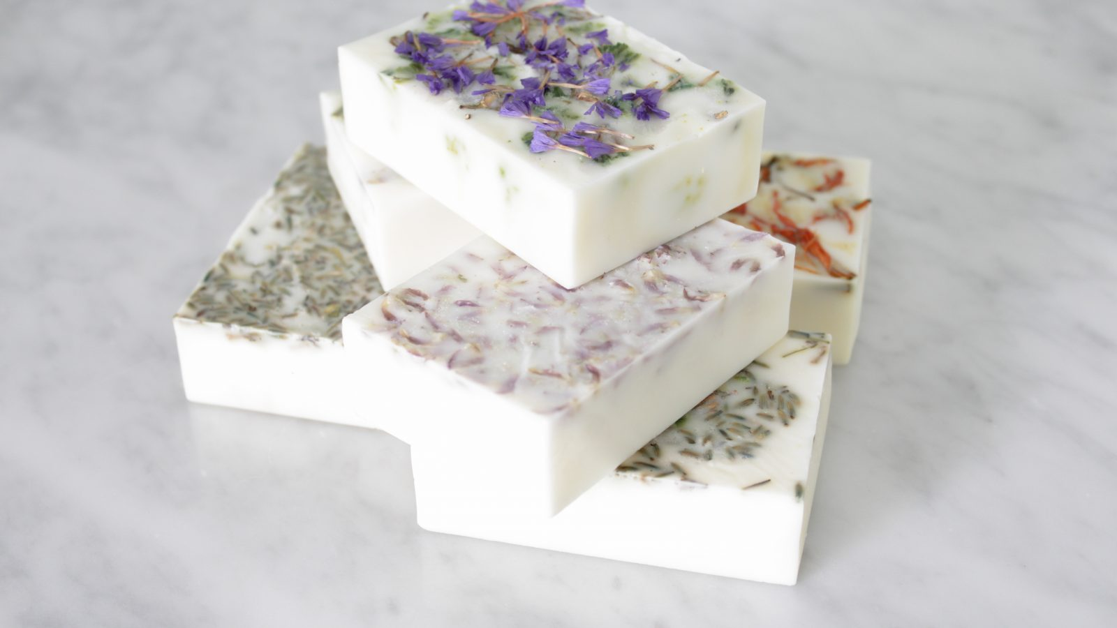 DIY Floral Soap Bars
