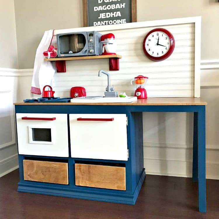 DIY play kitchen woodworking plans