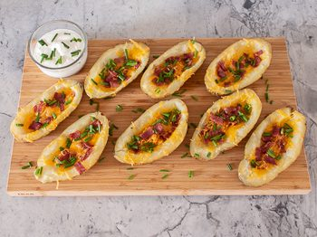 Easy baked potato skins recipe