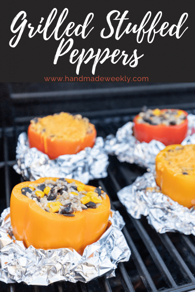 Stuffed peppers on the grill