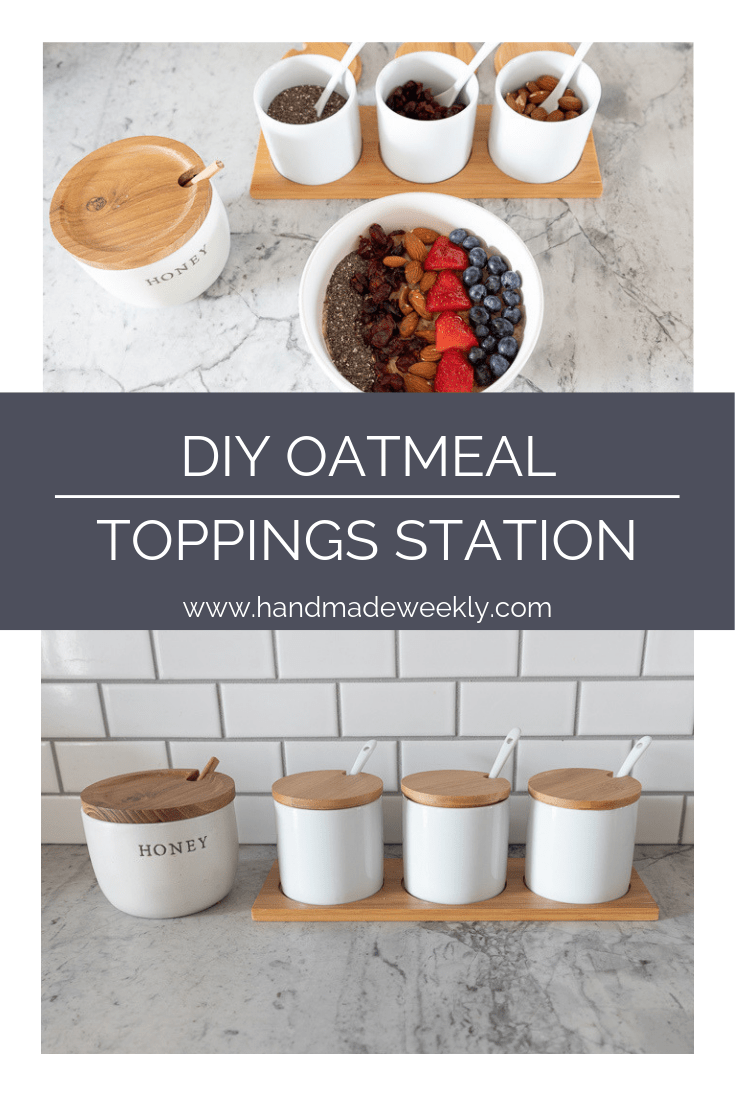 DIY Oatmeal Toppings station