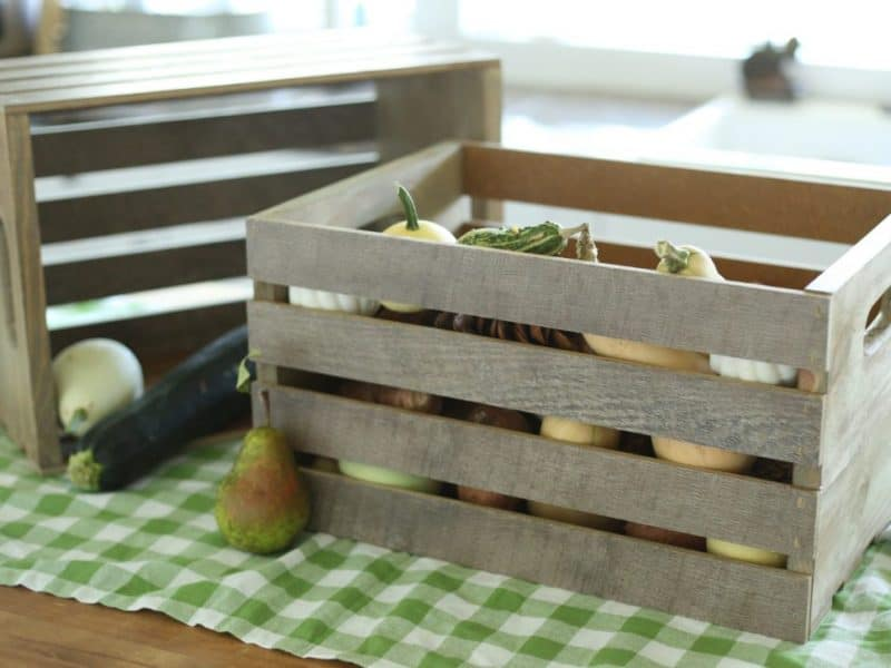 How to make crates from flooring