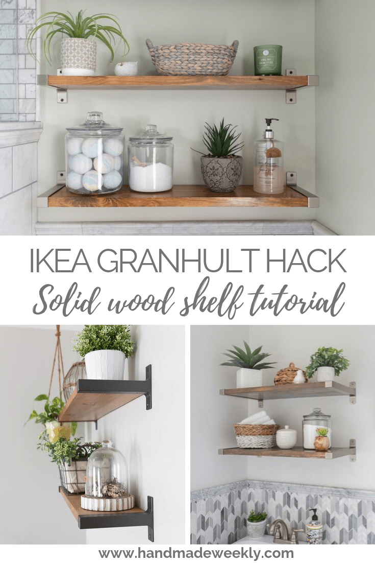 IKEA GRANHULT Shelf Hack - Solid Wood Tutorial