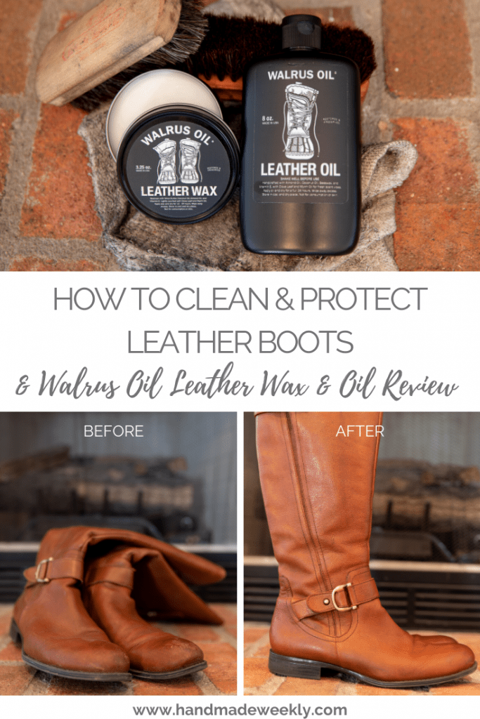 How to clean and protect leather boots - Walrus Oil leather wax and leather oil review