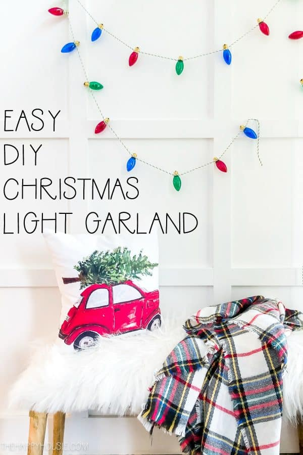 DIY Christmas Light String Garland