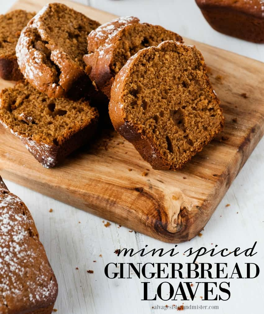 Mini spiced gingerbread loaf