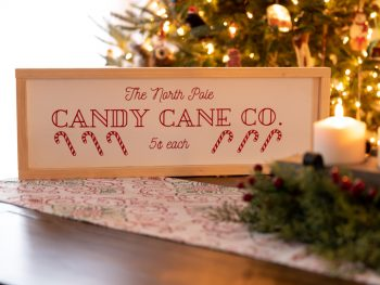 DIY Candy Cane Sign Free SVG File