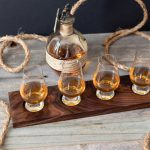 how to make a diy whiskey, bourbon, scotch, beer flight board